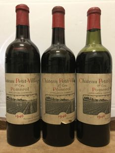 1946 Château Petit Village, Pomerol - 3 bottles in total
