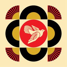 Shepard Fairey (OBEY) - Peace Dove Geometric (Cream)
