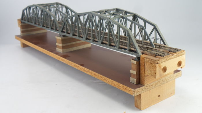 Kibri H0 9696 Built Double Truss Bridgeviaduct With Bridge