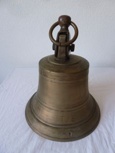 Large copper ship's bell from the Netherlands