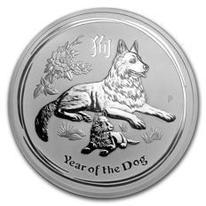 Australia - 30 AUD - Perth Mint - 31 kg/1000 g of 999 silver - lunar year of the dog - 2018 - 999 fine silver