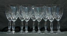 Lot consisting of 10 items made of chiselled and drop cut crystal - France - circa 1935