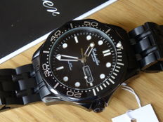 eichmuller Black seamaster style dive watch - Wristwatch - Men