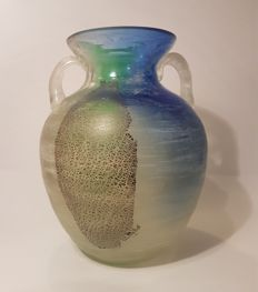 Frattini Murano - Scavo glass amphora