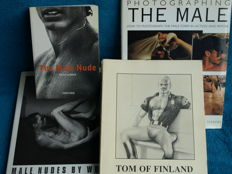 Gay interest; Lot with 4 homoerotic photo books - 1993/2001