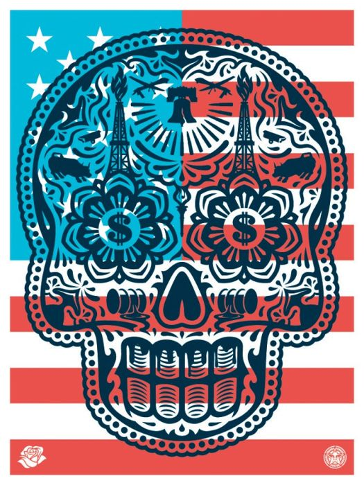 Shepard Fairey (OBEY) & Erenesto Yerena - Power and Glory 'Merica