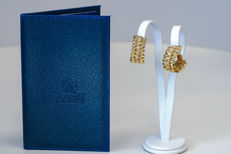 """Piaget """"Glancy"""" diamond earrings, 0.56 ct, VVS – 18 kt – 3 x 11 x 21 mm – With certificate of authenticity"""