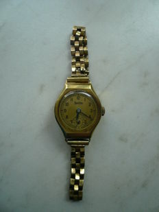 Vintage Zentra women's watch, genuine gold, 1950s