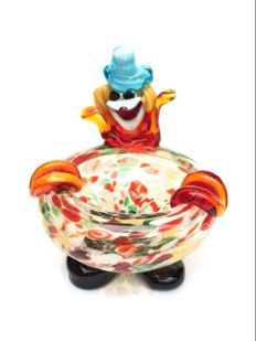 Murano ashtray clown 1960s-1970s Very rare