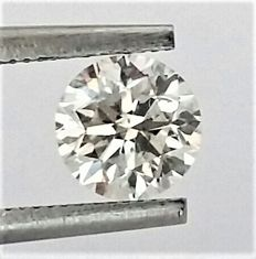 0.96 carat - Round Brilliant Cut  - F color - VS2 clarity- Comes With AIG Certificate + Laser Inscription On Girdle