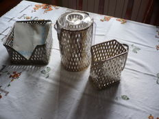 Table set with bread box, bread sticks box and pitcher holder