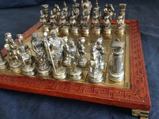 Roman chess made of silver and wood