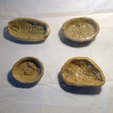 Collection of four antique marzipan moulds