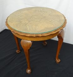 Queen Anne style wooden side table