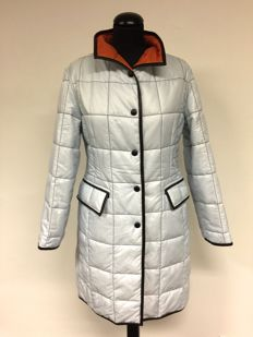 Fay - quilted coat with leather details