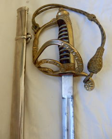 Light Cavalry British Officer's Sword serving in the Indian Army, early 1900's