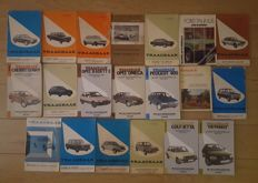 Lot of 20 Vraagbaak booklets, varying from Citroën to Volkswagen
