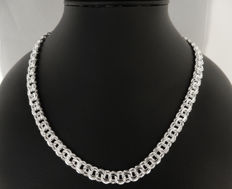 925 silver heavy necklace, Length:  55 cm