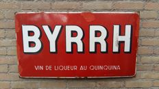 Enamel Belgian Advertising Sign Byrrh 1941