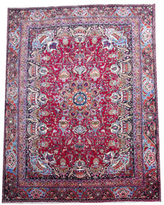 Gorgeous Vintage Persian Kashmar Carpet 2nd Half of the 20 Century