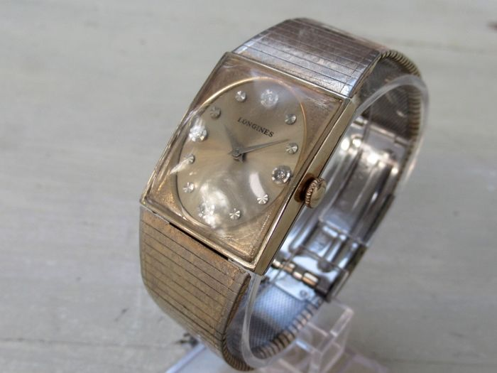 Longines mens'  Diamonds Dresswatch ca. 1960