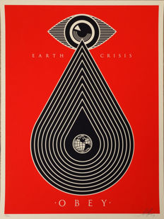 Shepard Fairey (OBEY) - Earth Crisis (red)