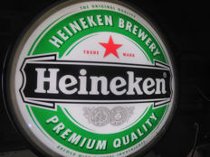 Iluminated-Big logo  HEINEKEN. Corporate advertising. Diameter of circa 80cm.