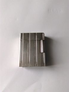 S.T. Dupont lighter - Paris line 1 b r - silver plated