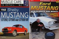 2 Books : Ford Mustang 1964 1/2 - 1973 - How to Build & Modify  &  1968 Shelby Mustang GT350, GT500 and GT500 KR