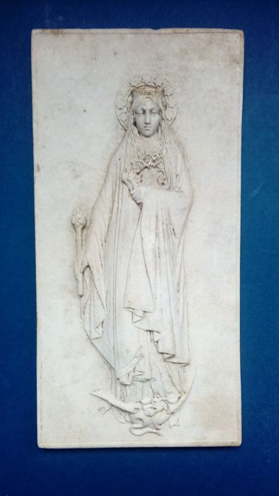 Victor-Edmond Leharivel-Durocher (1816-1878) - plaque with depiction of Mary - dated 1862