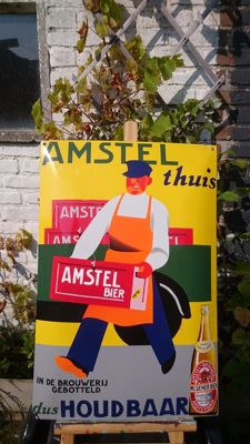 Amstel bord - Emaille
