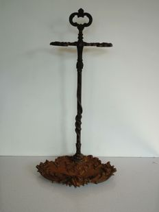Antique cast iron umbrella stand, France, first half 20th century