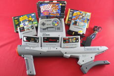 Super Nintendo SNES Console with Nintendo Scope and 8 games eg Mortal Kombat 3 Asterix and more