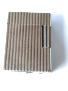 S.T. Dupont lighter - Paris line 1 bs - silver plated