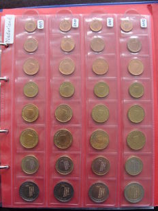 The Netherlands - Year series 1999/2015 (17 different coins) in album