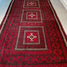 Beautiful rustic Beluch Persian carpet - 220 x 115 - with certificate