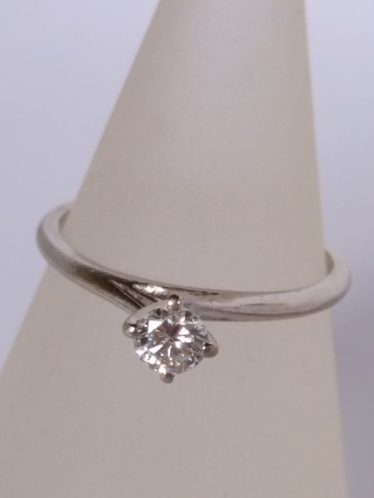 Solitaire ring with 0.25 ct diamond, colour H, clarity VS