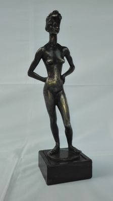 """Danzatrice"" silver lost wax casting, by Francesco Messina (1900-1995), Italy, October 18, 1977"