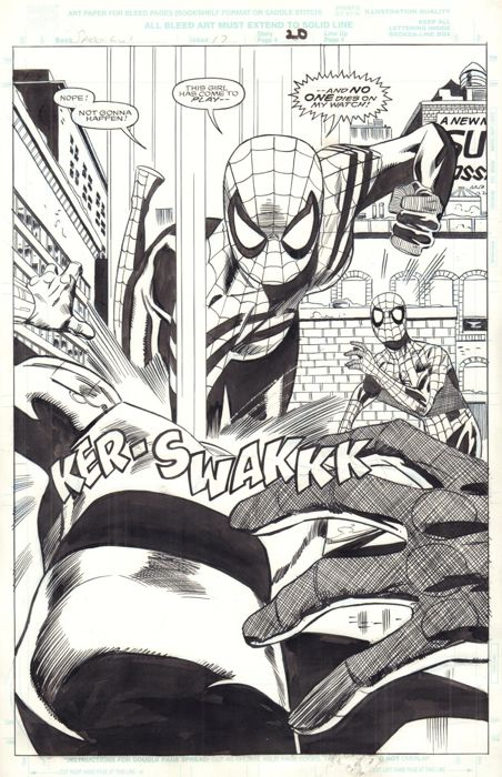 Original Art By Pat Olliffe And Al Williamson - Marvel - Spider-Girl #17 - Page 20 - Splash - (2000)