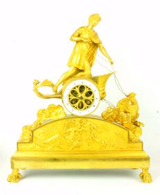 Empire ormolu mantel clock, Ganymede in chariot pulled by an eagle - Pierre-Philippe THOMIRE - attributed to. France 1805-1810.