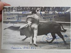Bullfight; Lot of 15 signed postcards - 1916-1930