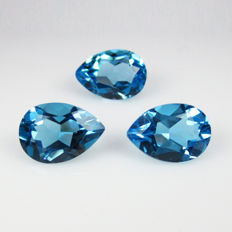 Blue Topaz Set - 7.22 Ct Total