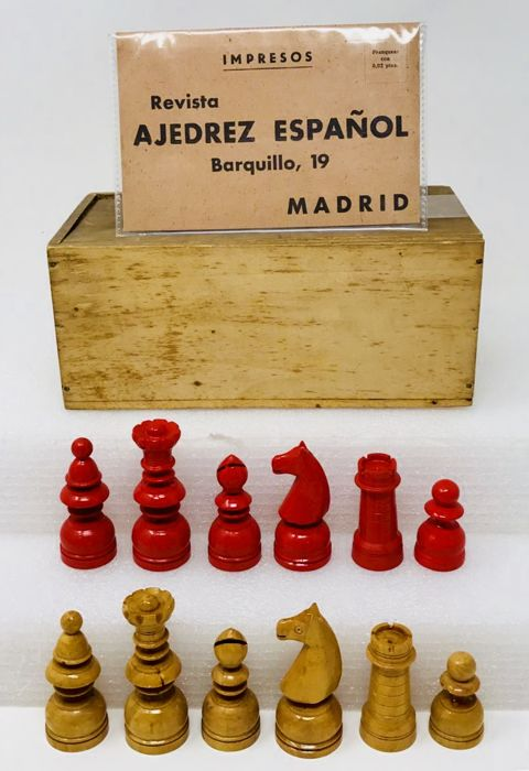 Old Francoist Spanish chess National colours and JONS certificate