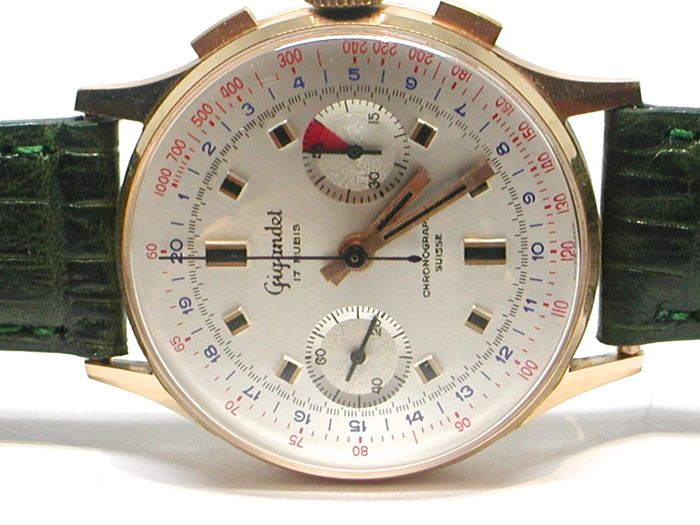 Gigandet Chronograaf Suisse - 18 Karaat Geel Goud - Mens Watch - 38mm - Ca 1950-1959