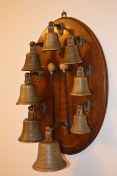 Early Victorian Bronze Musical Bells, Ca 1840