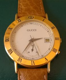 Gucci 3800 M Swiss Made - Very elegant men's chronograph, in perfect condition