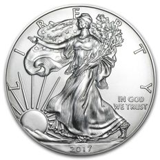 USA - $1 - US Mint - 1 oz of 999 silver - silver coin - American silver eagle - 2017