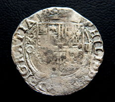 Spain - Felipe II, 1556-1598 - 4 reales macuquina coin minted in Mexico - rare
