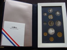 France - Monnaie de Paris - 1991 Annual proof In coffer (11 Coins)