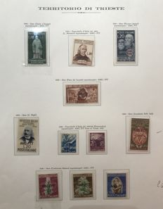 Italy, Trieste A - 1950-1952 - Complete Series - Ordinary Post, Express, and Airmail